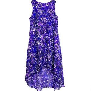 Coldwater Creek Purple Floral Sleeveless Dress